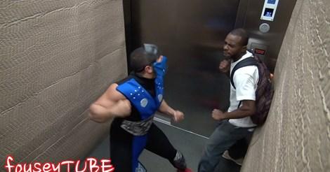 Video viral de pegadinha no elevador